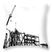 Large Scale Construction In Outline Throw Pillow