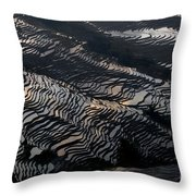 Large Scale Of Rice Terrace Throw Pillow