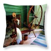 Large Spinning Wheel Throw Pillow