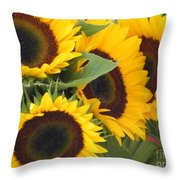 Large Sunflowers Throw Pillow