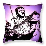 Largemouth Throw Pillow