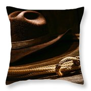 Lariat And Hat Throw Pillow