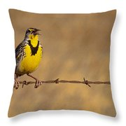 Lark On A Wire Throw Pillow