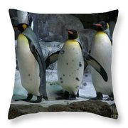 Larry..  Moe And Curly Throw Pillow