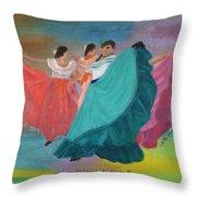 Las Bailarinas De Costa Rica Throw Pillow