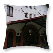 Las Planas Train Station Throw Pillow