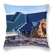 Las Vegas 10 Throw Pillow