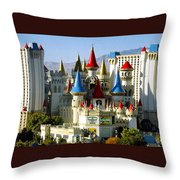 Las Vegas - Excalibur Hotel Throw Pillow