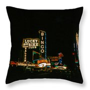 Las Vegas Lights2 Throw Pillow