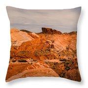 Las Vegas Nevada Mojave Desert Valley Of Fire Panorama Throw Pillow