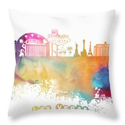 Las Vegas Nevada Skyline  Throw Pillow