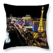 City - Las Vegas Nightlife Throw Pillow