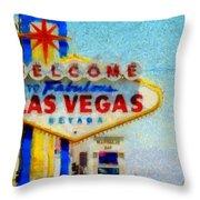 Las Vegas Sign Throw Pillow