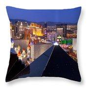 Las Vegas Skyline Throw Pillow by Brian Jannsen