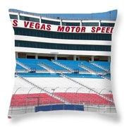 Las Vegas Speedway Grandstands Throw Pillow