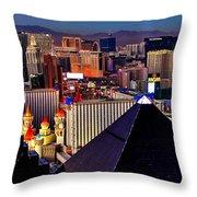 Las Vegas Sundown Throw Pillow