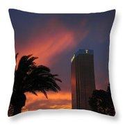 Las Vegas Sunset With Trump Tower Throw Pillow
