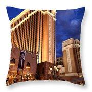 Las Vegas - Venetian Hotel Throw Pillow