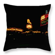 Las Vegas Vintage Signs Throw Pillow