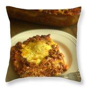 Lasagna On A Plate Throw Pillow