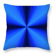 Laser Blue Light Throw Pillow