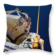 Laser Guide Star Throw Pillow