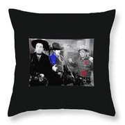 Lash Larue And Charles King Law Of The Lash Publicity Photo 1947 Throw Pillow