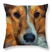 Lassie - Rough Collie Throw Pillow