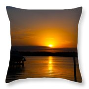 Last Bit Of Light Throw Pillow