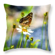Last Bloomin Flower  Throw Pillow