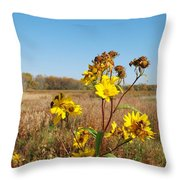 Last Blooms Before Fall Throw Pillow