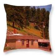 Last Chance For Gas Throw Pillow