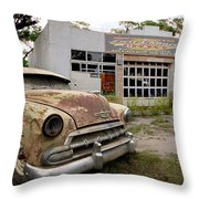 Last Chance Gas Throw Pillow