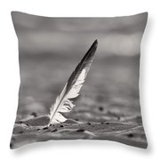 Last Days Of Summer In Black And White Throw Pillow