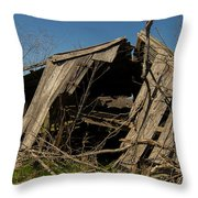 Last Gasp Of An Old Barn Streetman Texas Throw Pillow