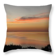 Last Golden Rays Of Light Throw Pillow