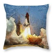 Last Launch Throw Pillow