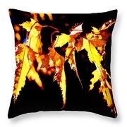 Last Leaves Of Summer Throw Pillow