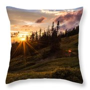 Last Light At Cedar Throw Pillow by Chad Dutson