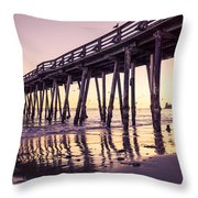 Last Light At The Capitola Wharf Throw Pillow