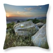 Last Light At The Windy Mountains Throw Pillow