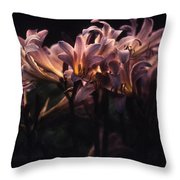 Last Light Lillies Throw Pillow