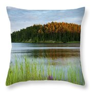 Last Light On The Lake Throw Pillow
