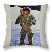 Last Man - Apollo 17 Throw Pillow