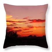 Last Night's Sunset Throw Pillow