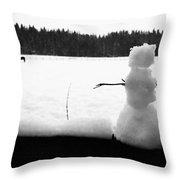 Last Of The Frozen Men Throw Pillow