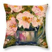 Last Of The Roses Throw Pillow