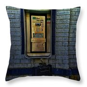 Last Pay Phone Throw Pillow