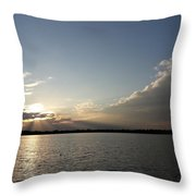 Last Rays Of The Sun Throw Pillow