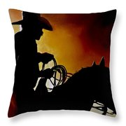 Last Roping Throw Pillow